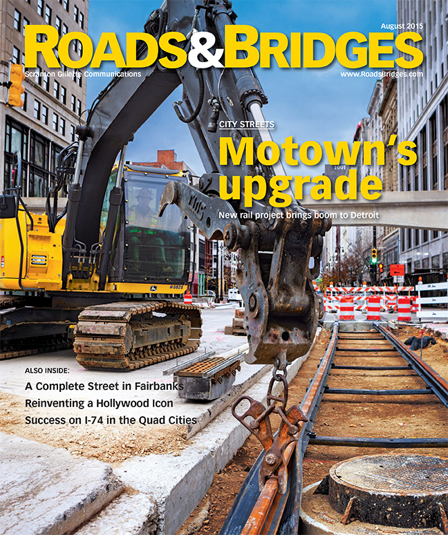 Roads and Bridges magazine features M-1 RAIL streetcar project