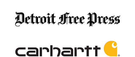 Detroit Free Press and Carhartt Logos