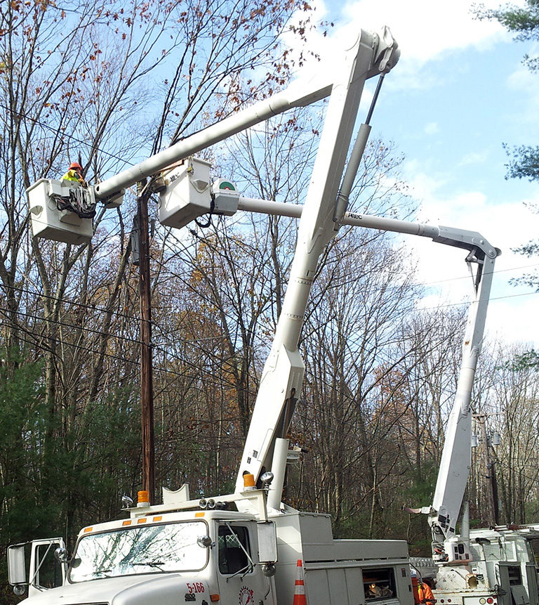 WE have the specialized equipment for electrical utilities work