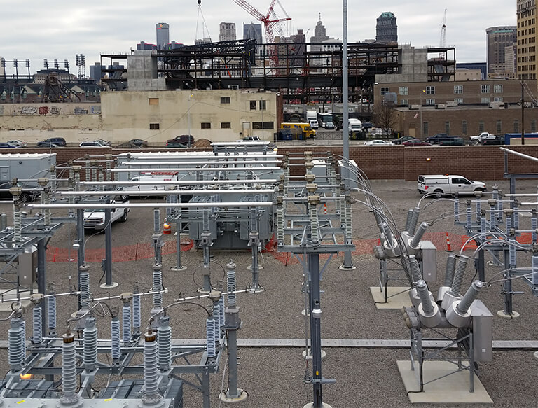 Substation construction for utilities, government & industrial customers including Temple Substation for DTE Energy and ITC