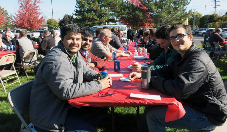 Workers at MCE picnic