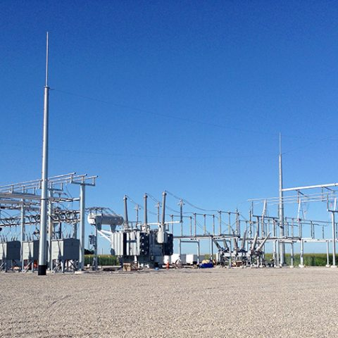 substation at Cross Winds Energy Park