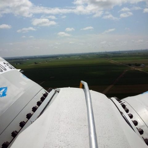 Cross Winds Energy Park - view from on top of turbine