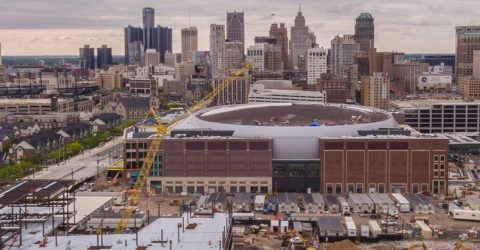 MCE's IBEW electricians are proud to be part of Little Caesars Arena at the center of The District Detroit development.