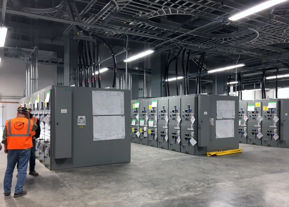 Switchgear installation by MCE at GM Arlington Assembly