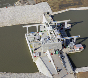 Cannelton Hydroelectric Power Plant - birds eye view