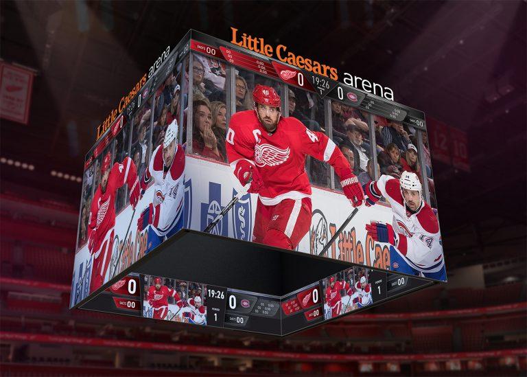 Little Caesars Arena Jumbotron