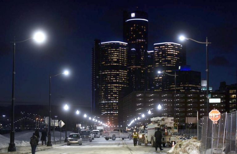 Public lighting in Detroit