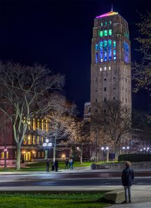 Burton Memorial Tower LED Lighting