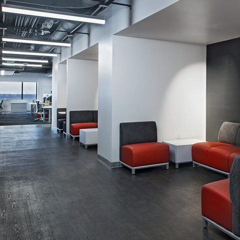 GM VEC East Interior Hallway Lounge Area