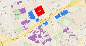 Parking structures downtown Detroit